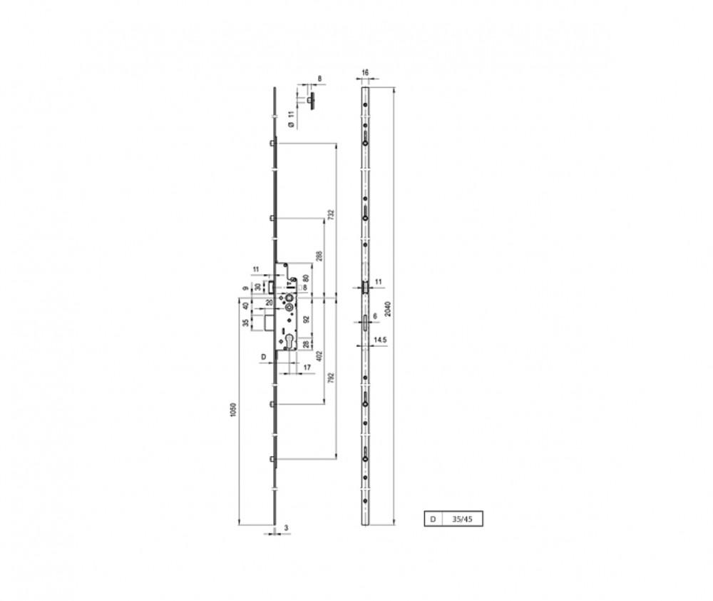 elzett multisoft B/2V 4 görgős ábra