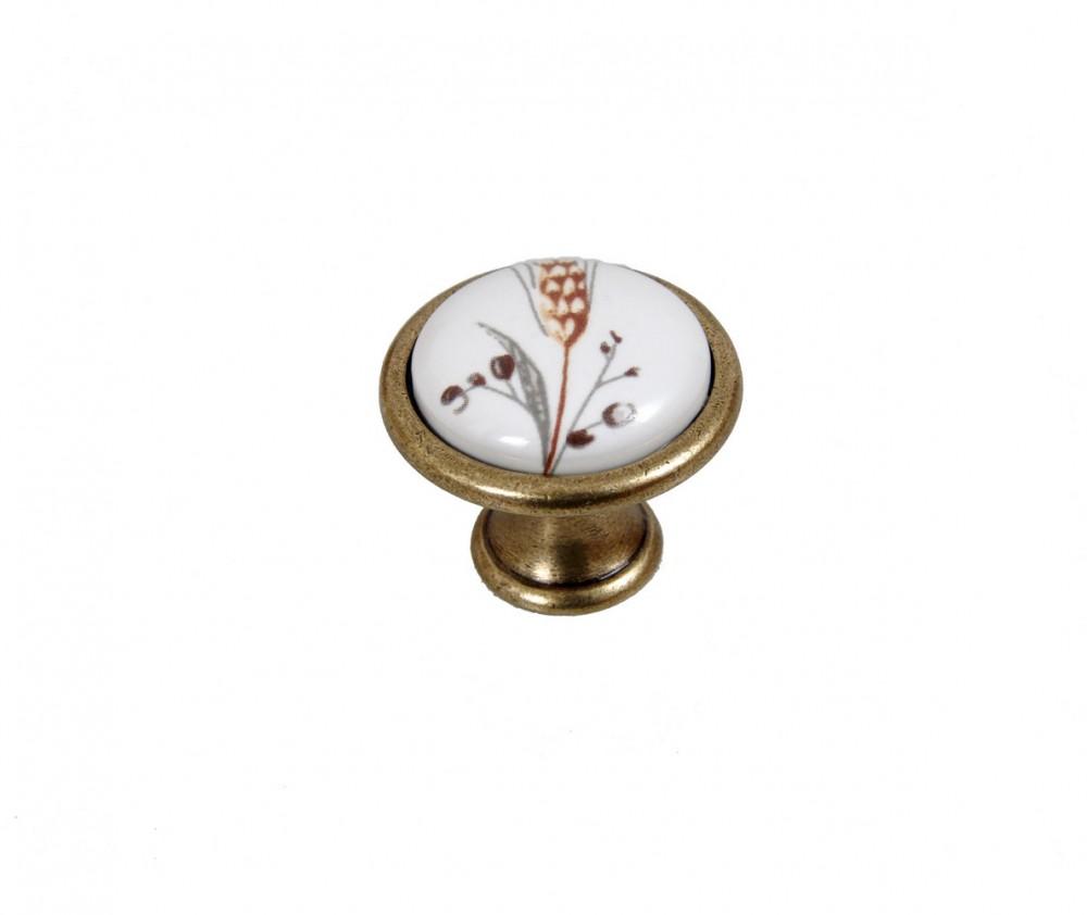 búzakalászos antik bronz gomb