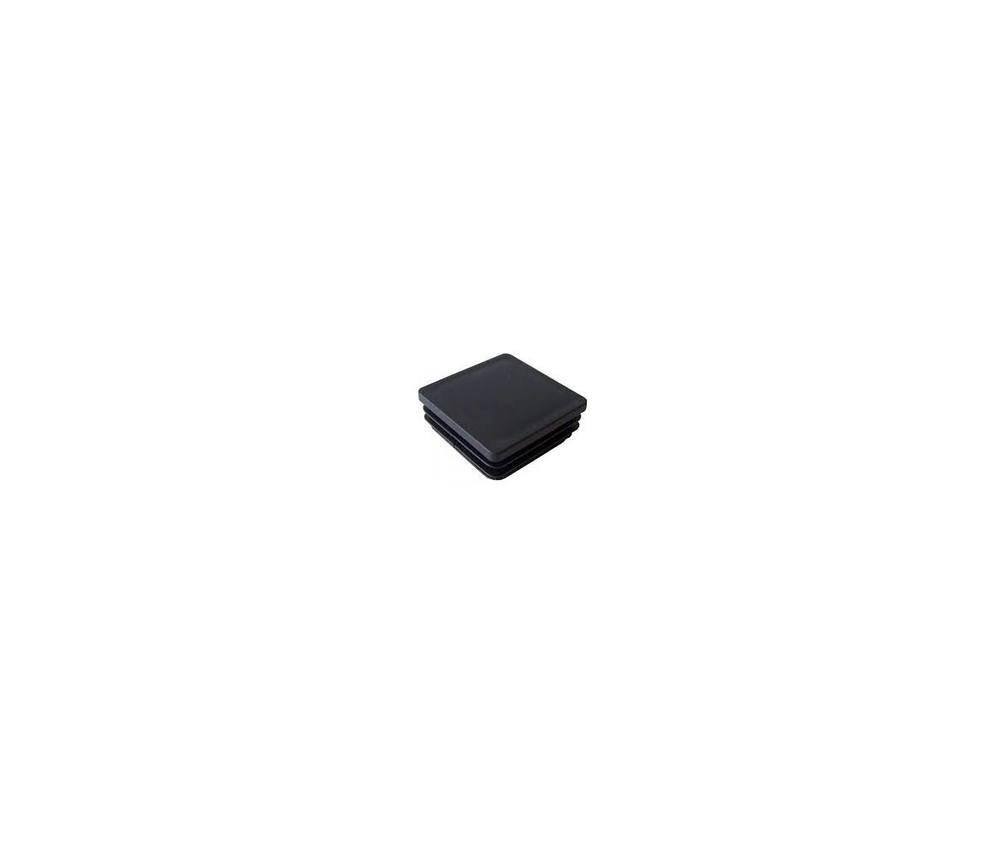 Zártszelvény dugó fekete műanyag 40x40
