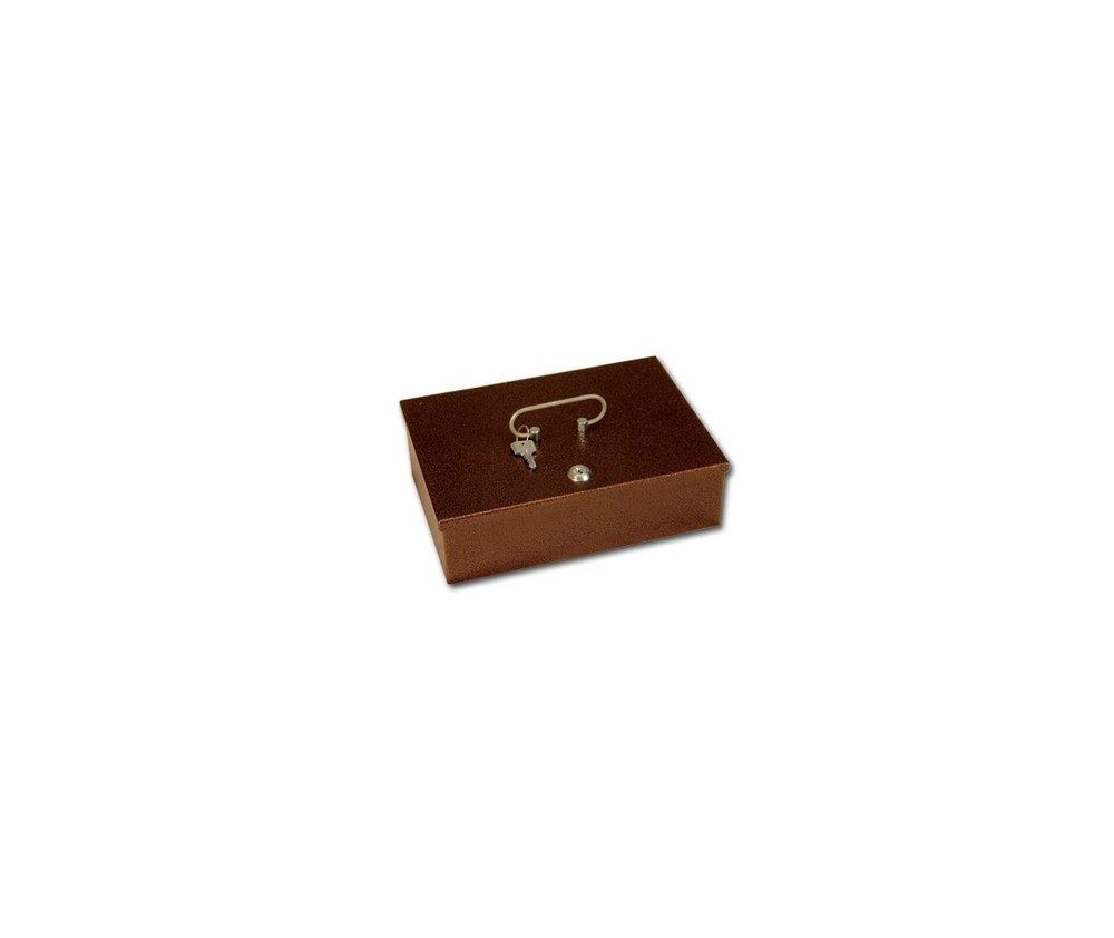 Pénzkazetta barna 280x185x85mm nincs