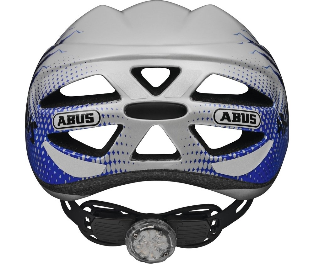 Abus casca de ciclism Hubble Kids blue scratches