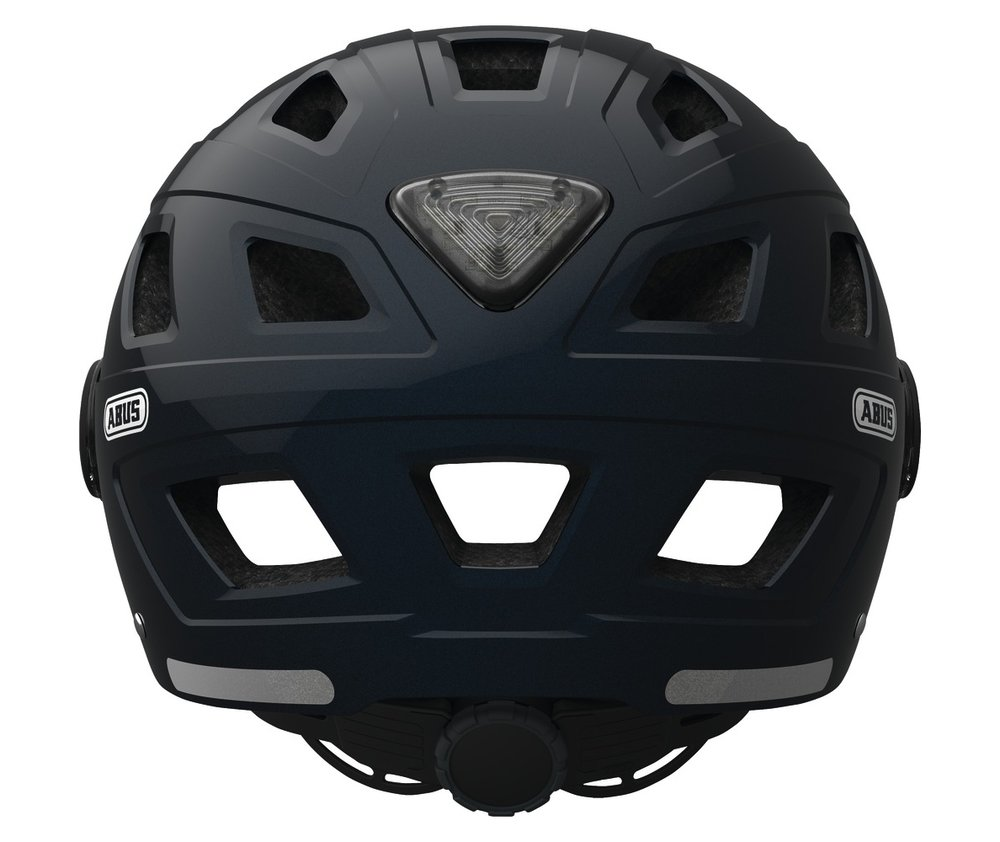 Abus casca de ciclism Hyban+  clear visor midnight blue