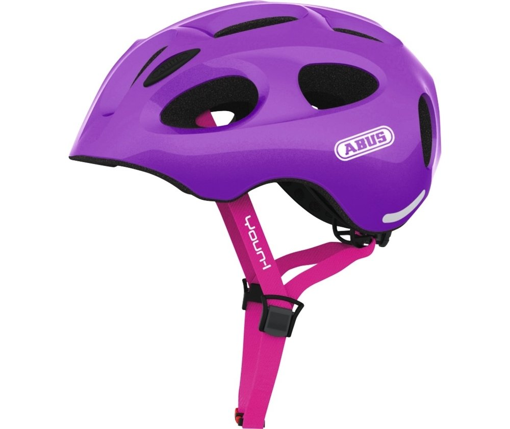 Abus casca de ciclism Youn-I Kids sparkling purple
