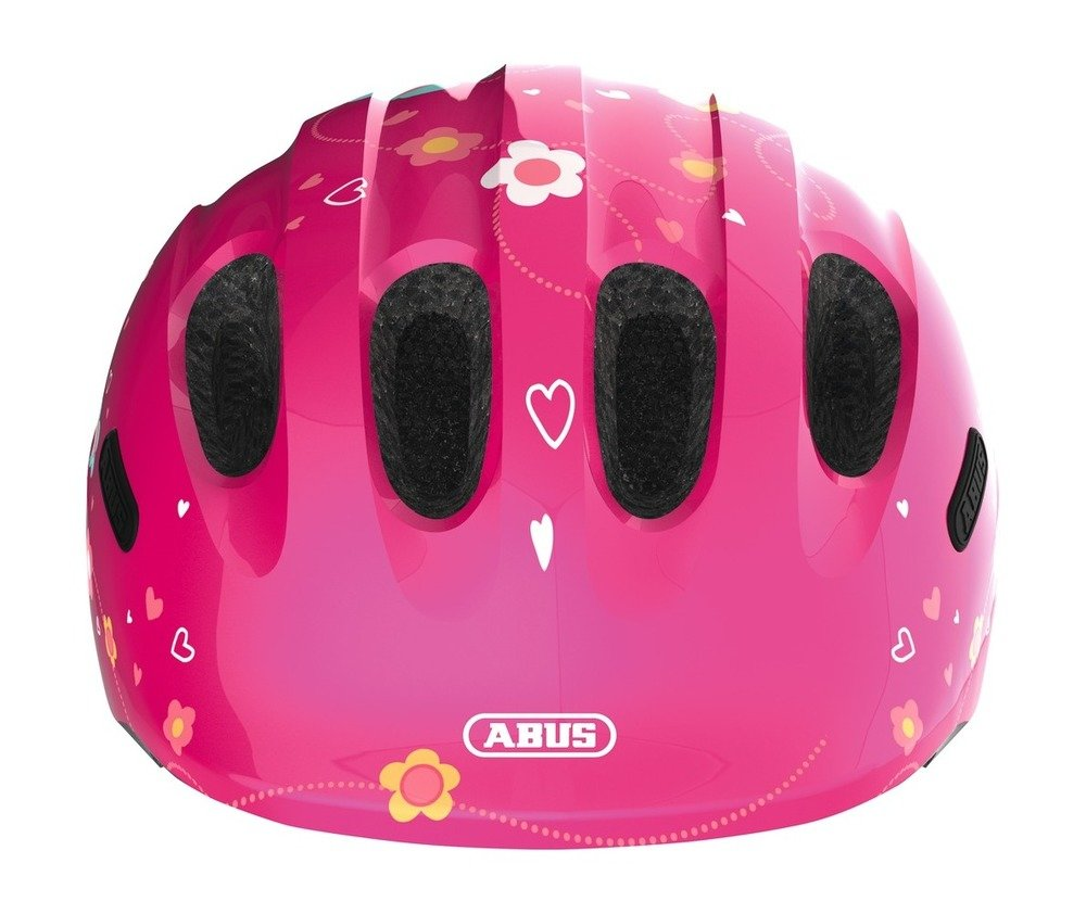 Abus casca de ciclism Smiley 2.0 Kids butterfly pink